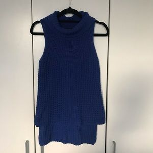 Bardot Junior Blue Sleeveless Knit Sz 14 High Low